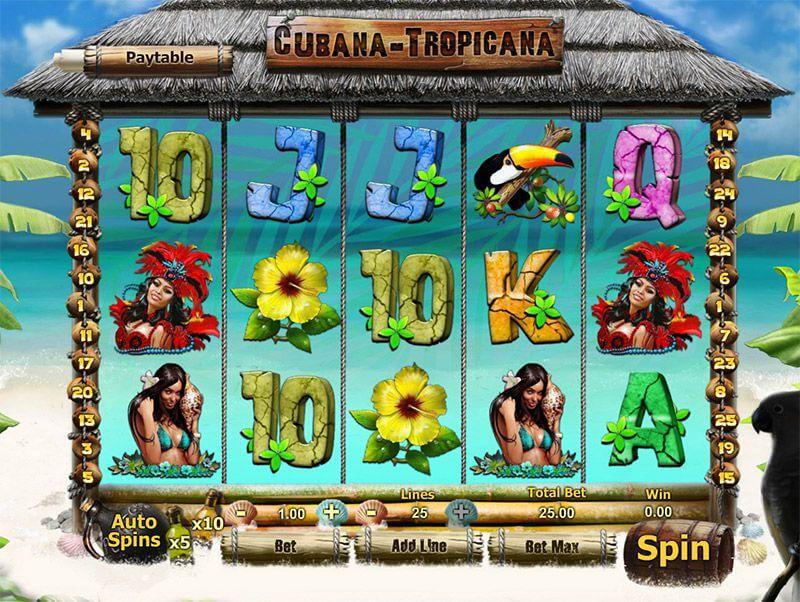Cubana Tropicana Caribbean Themed Slots