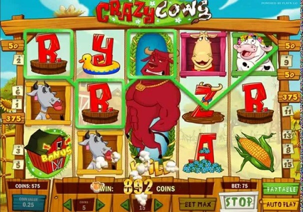 Crazy Cows Online Slot Review for Internet Casino Players